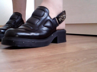Geschenkte Schuhe zeigen