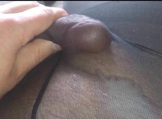 Frenulum Massage in Strumpfhose