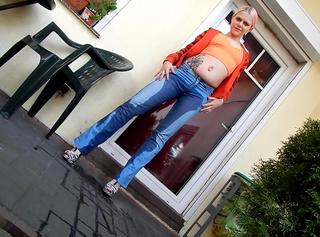 Jeans Hose in Ns getränkt